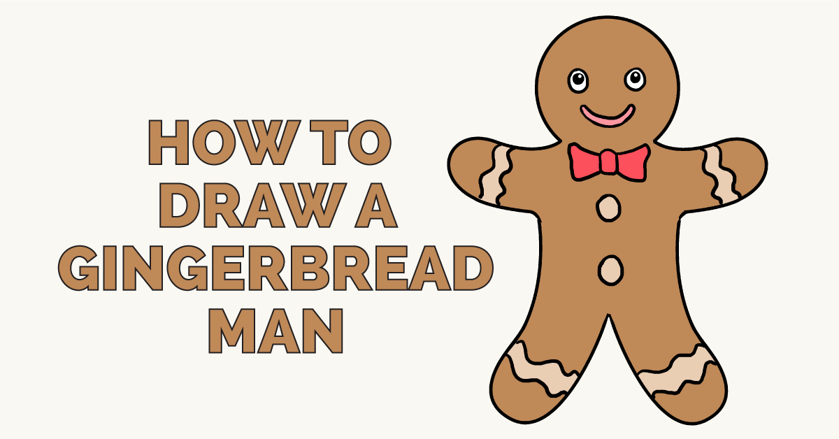 How to draw a gingerbread man: Featured image
