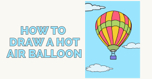 How to Draw a Hot Air Balloon: Featured Image
