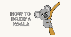 How to Draw a Koala: Featured Image