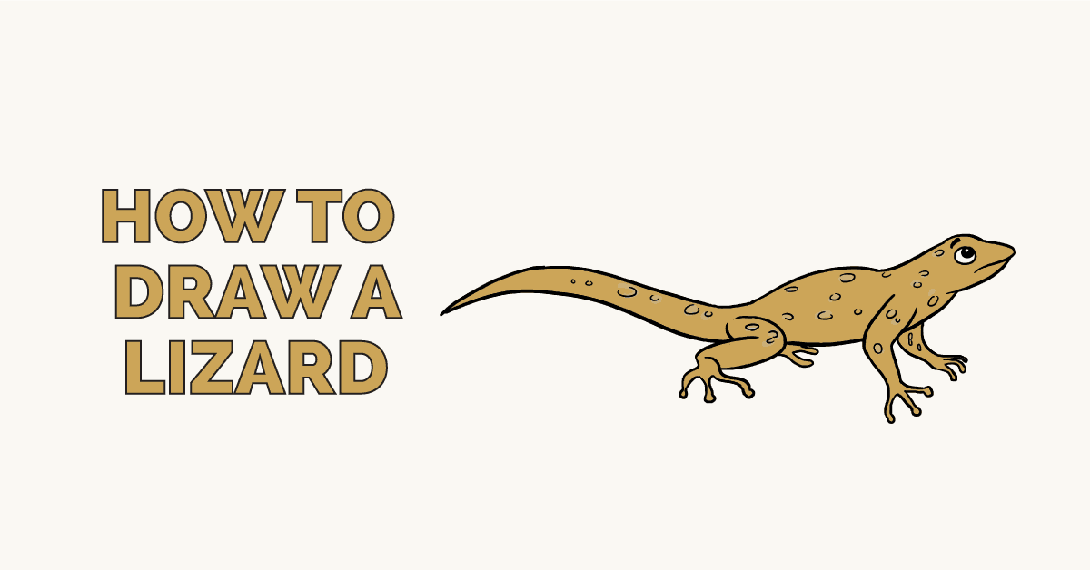 How to Draw a Lizard: Featured Image