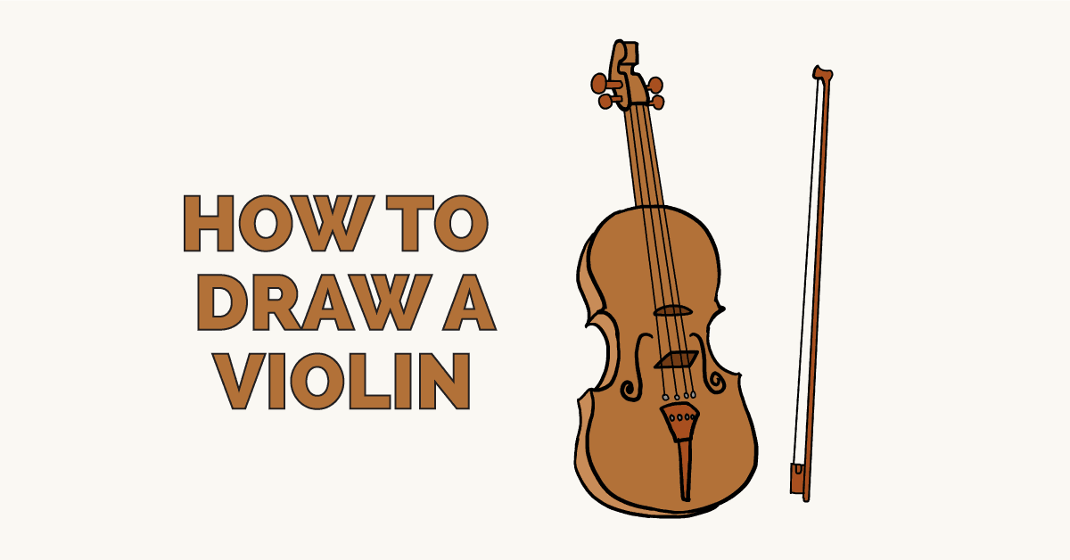 How to Draw a Violin: Featured Image