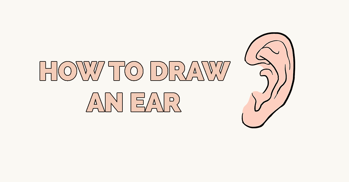How to draw a ear: Featured image