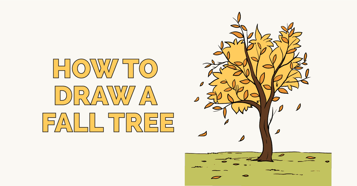 How To Draw A Fall Tree Really Easy Drawing Tutorial