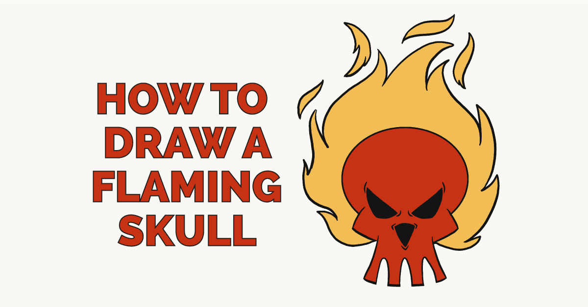 How to draw a flaming skull: Featured image