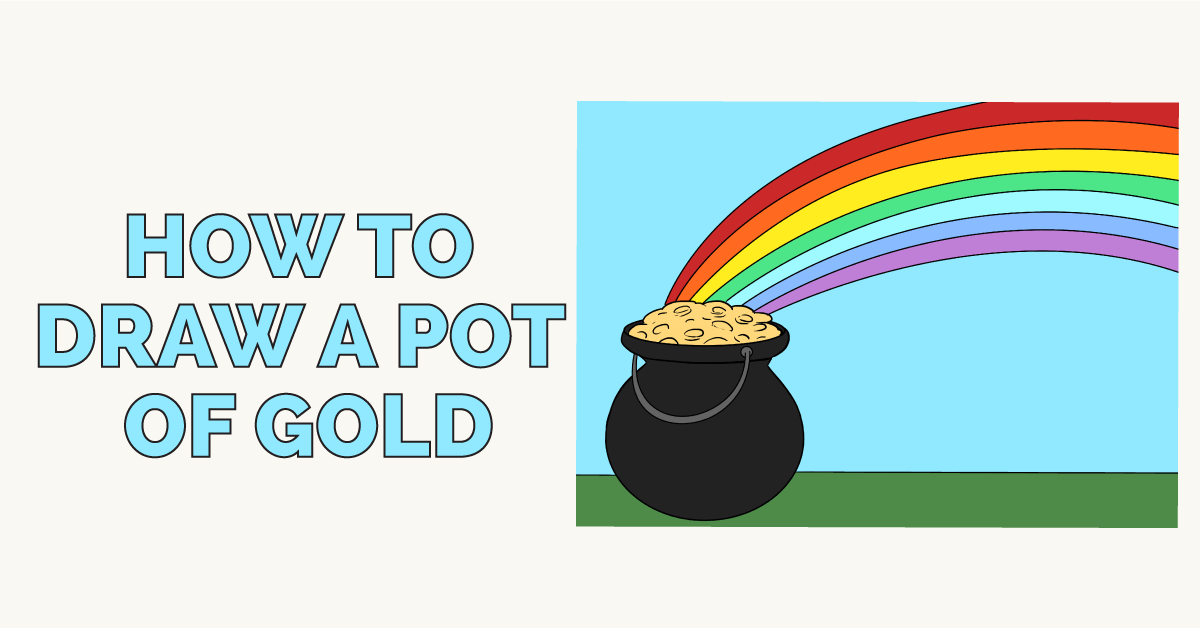 How to draw a pot of gold: Featured image