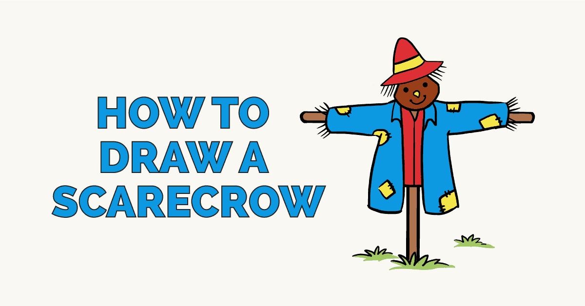How to draw a scarecrow: Featured image