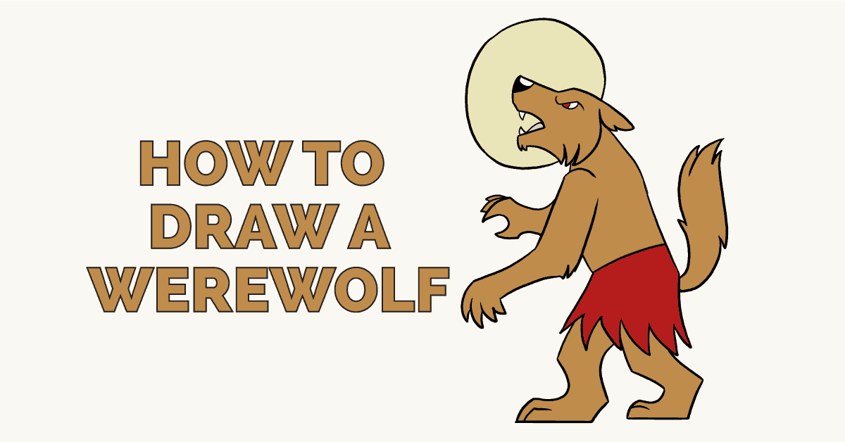 How to draw a werewolf: Featured image
