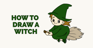 How to draw a witch: Featured image