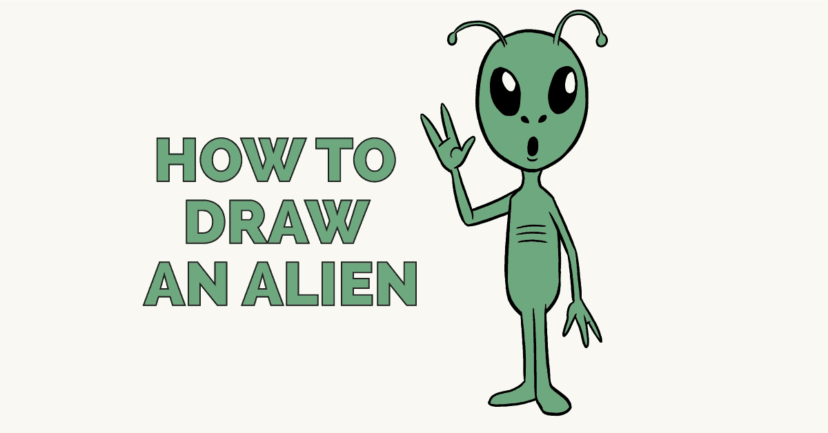 How to draw an alien: Featured image
