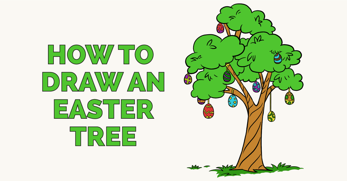 How to Draw an Easter Egg Tree - featured image