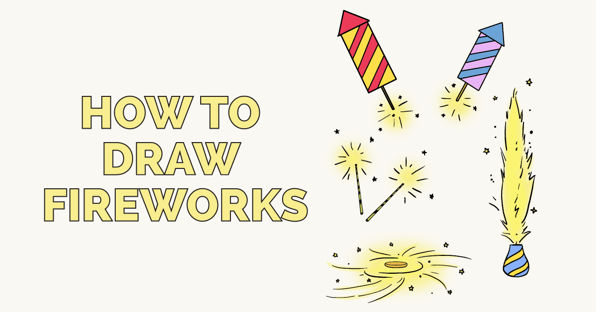 Learn how to draw fireworks - featured image