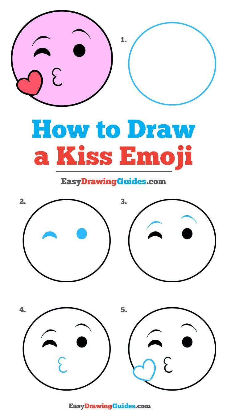 How to Draw Kiss Emoji