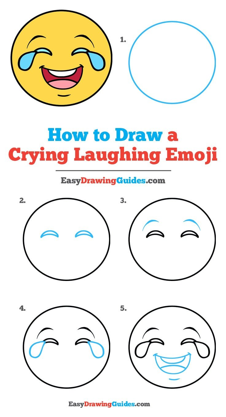 How to Draw Crying Laughing Emoji
