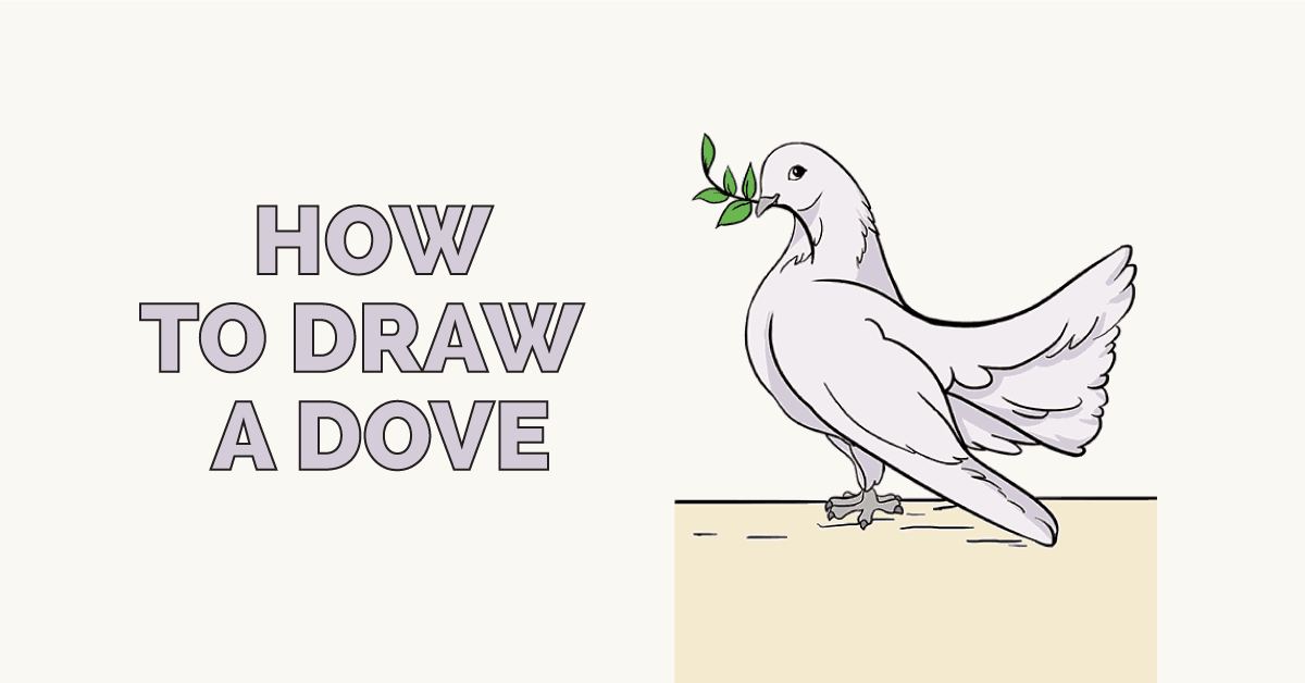 How to draw a dove: Featured image