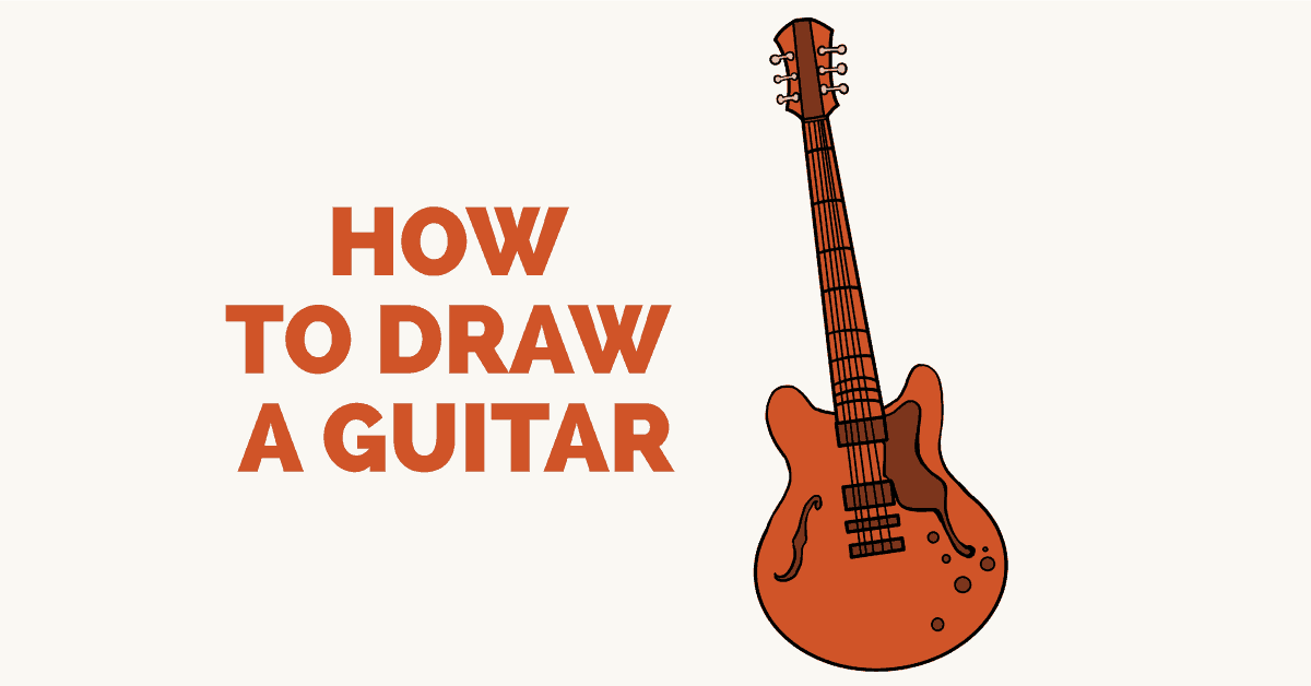 How to draw a guitar: Featured image
