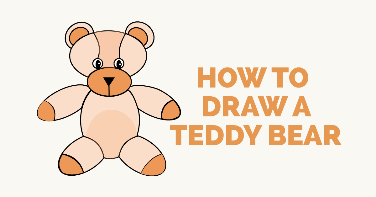 How to draw a teddy bear: Featured image