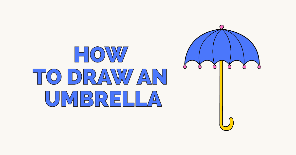 How To Draw An Umbrella Really Easy Drawing Tutorial