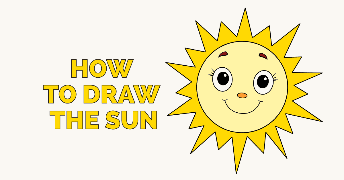 How To Draw A Sun Featured Image