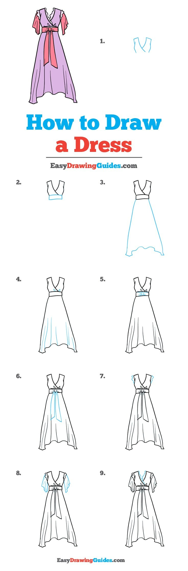 How to Draw Dress