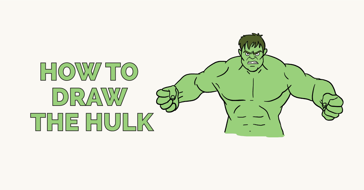 How To Draw The Hulk Really Easy Drawing Tutorial
