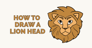 How to Draw a Lion Head: Featured image