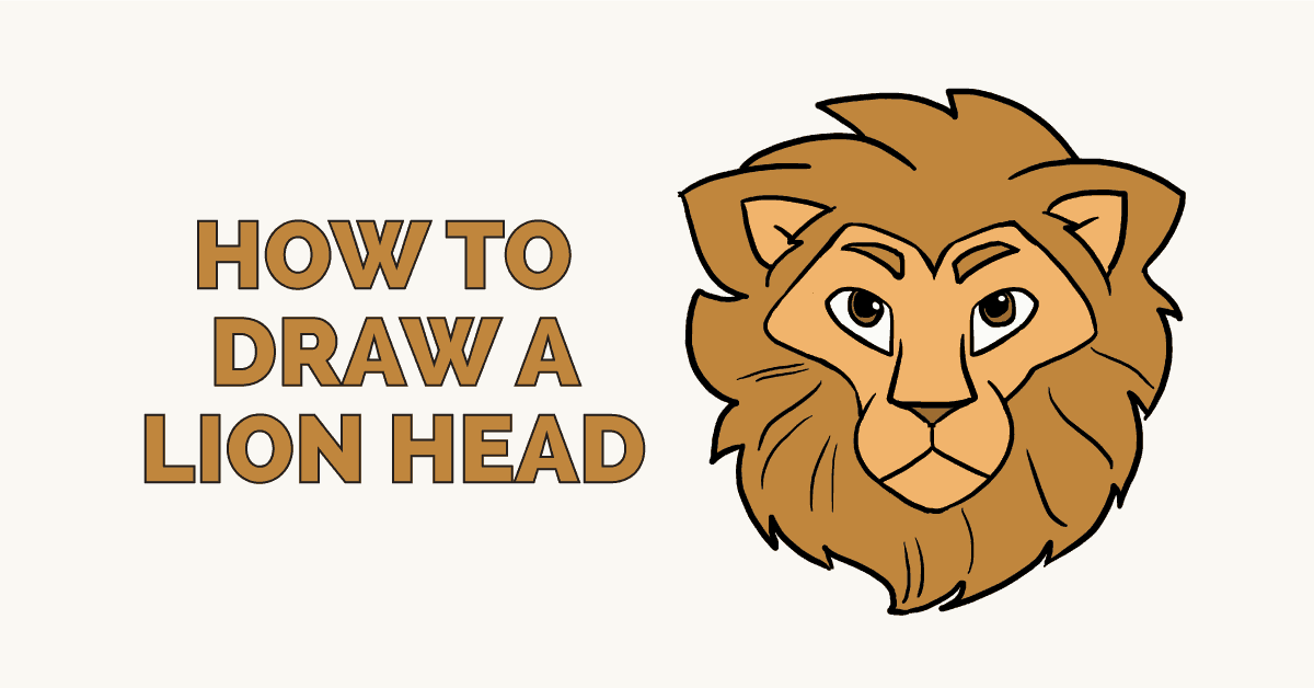 How To Draw A Lion Head Really Easy Drawing Tutorial Brush painting ink draw isolated lion illustration. how to draw a lion head really easy