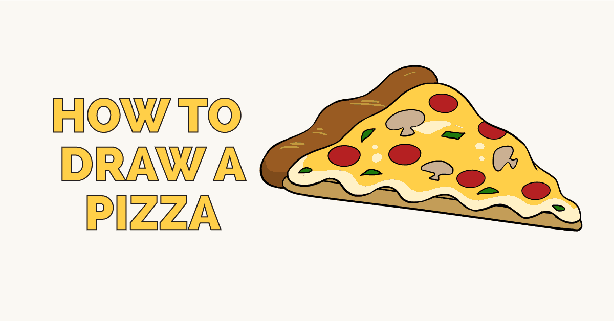 How To Draw A Pizza Really Easy Drawing Tutorial