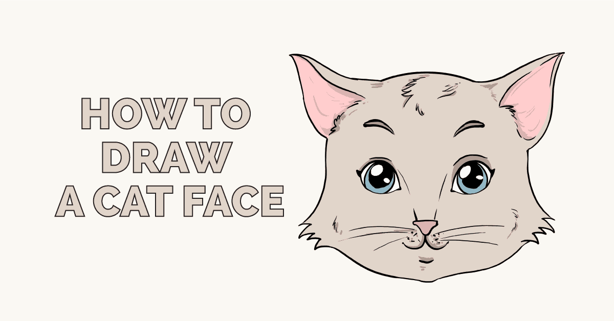 How To Draw A Cat Face Really Easy Drawing Tutorial