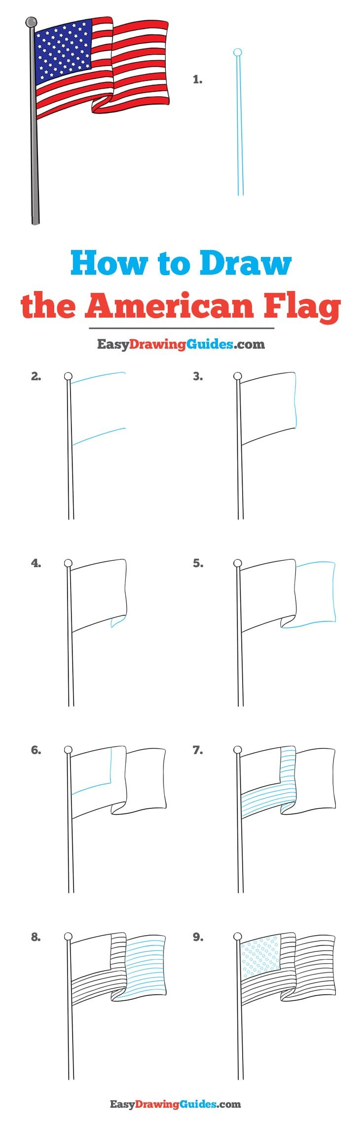 How to Draw American Flag