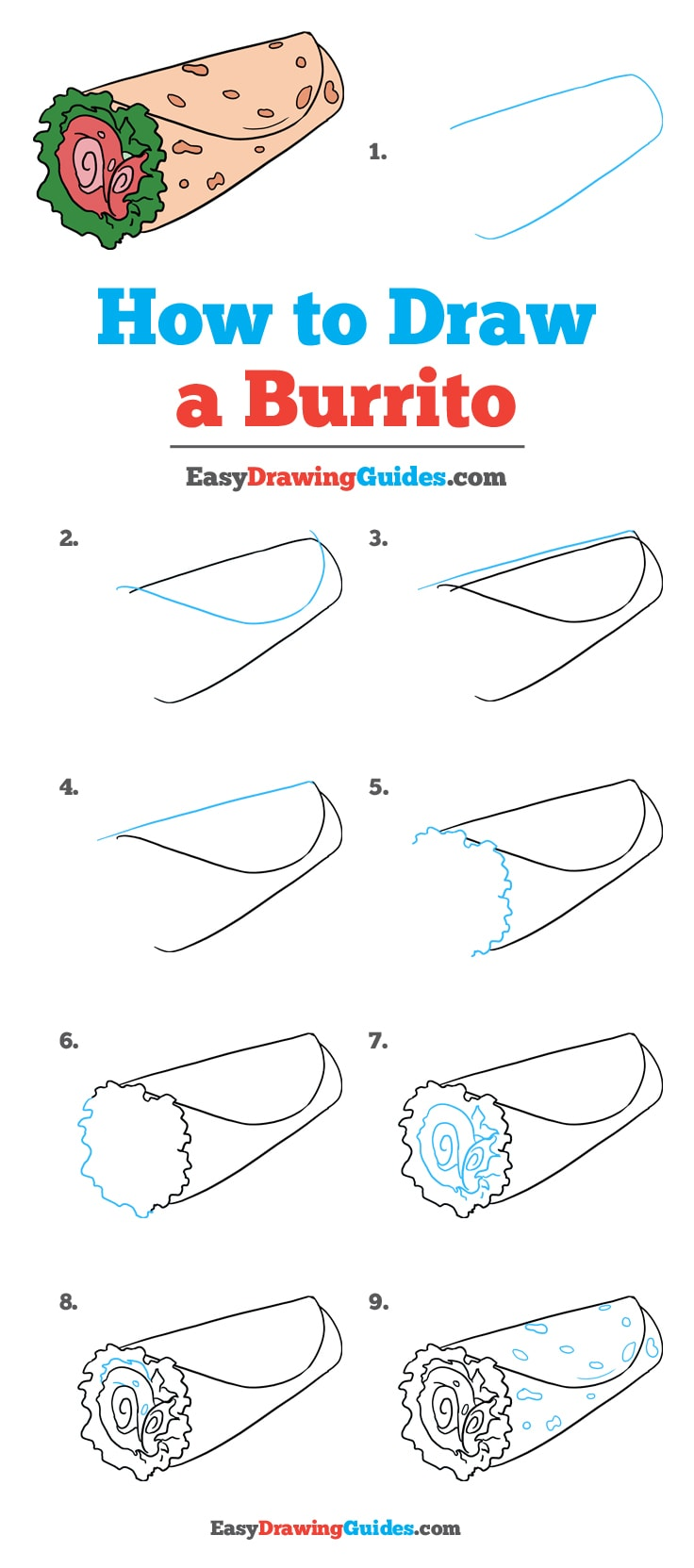 How to Draw Burrito