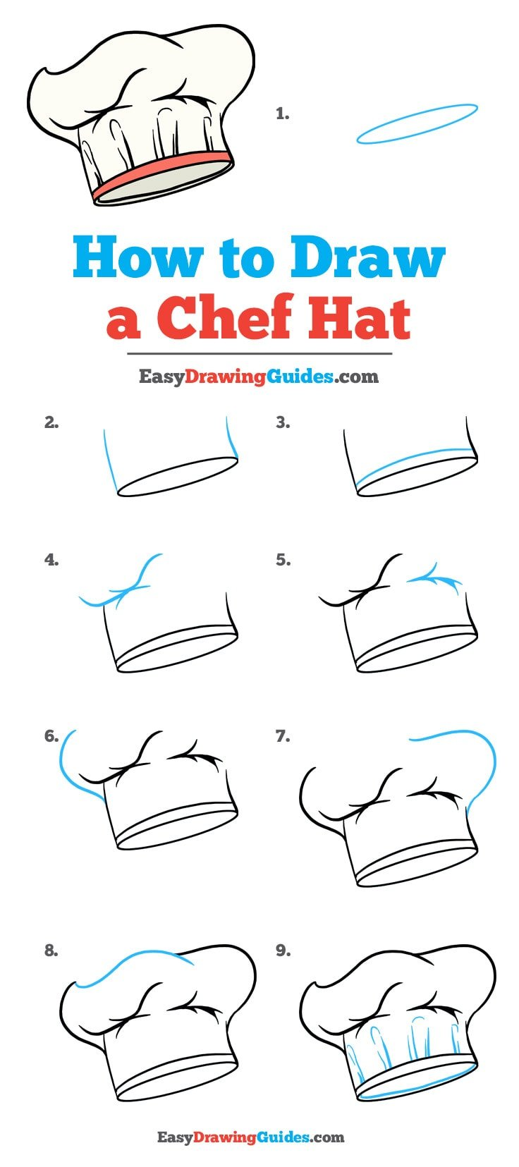 How to Draw Chef Hat