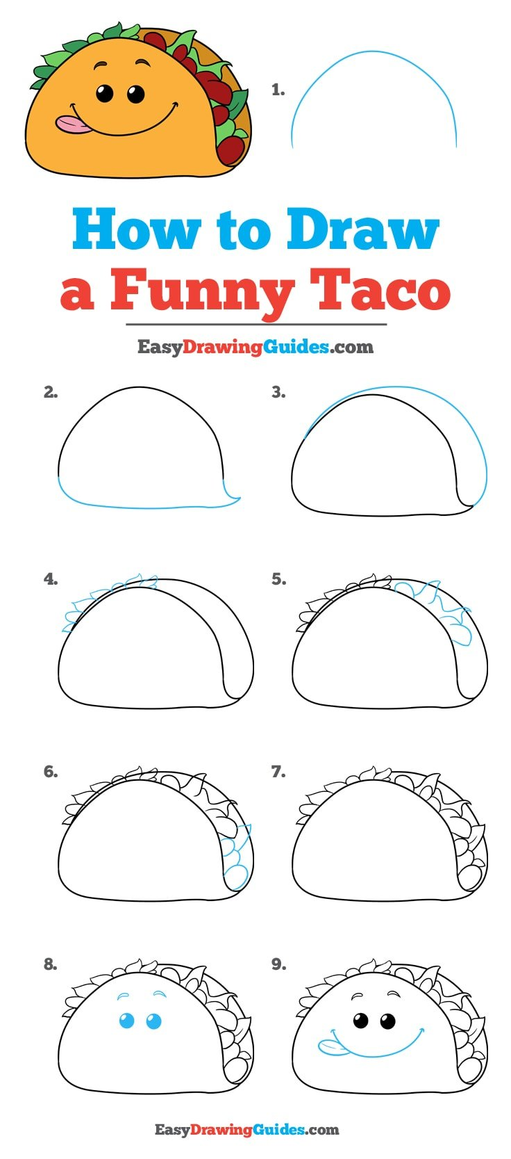 How to Draw a Funny Taco: Step by Step Tutorial