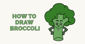 How to Draw Broccoli: Featured Image