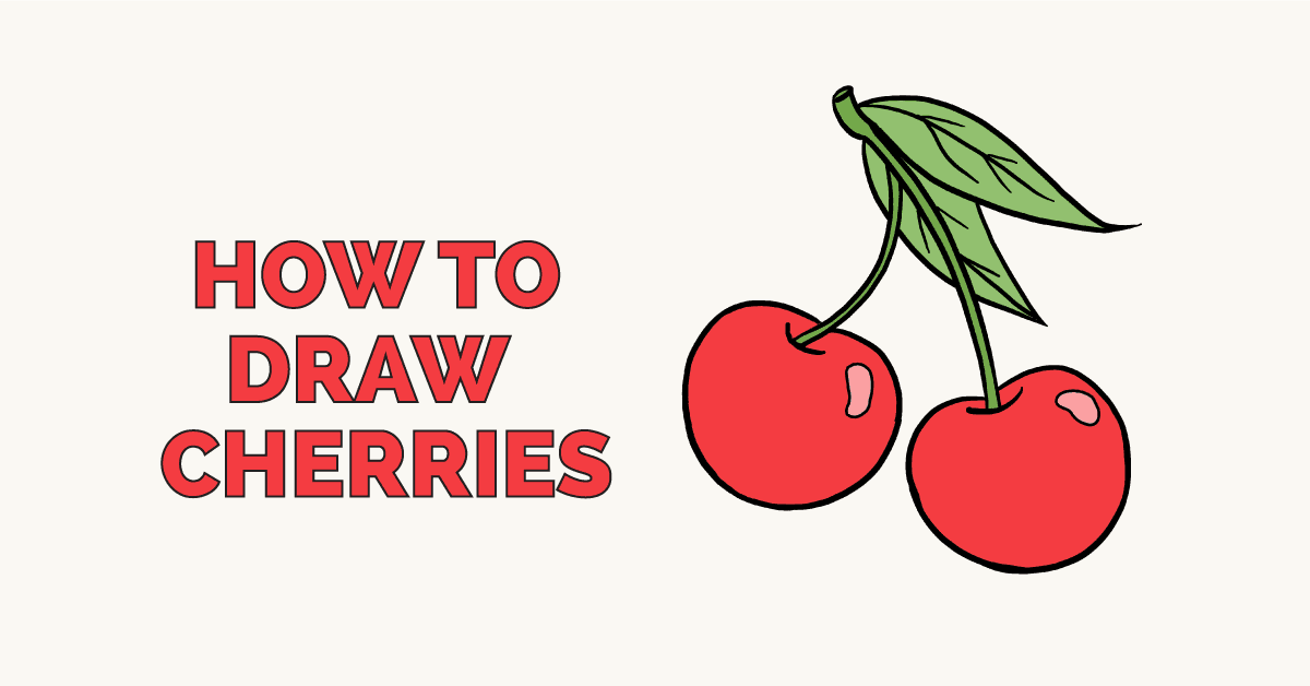 How to Draw Cherries: Featured Image
