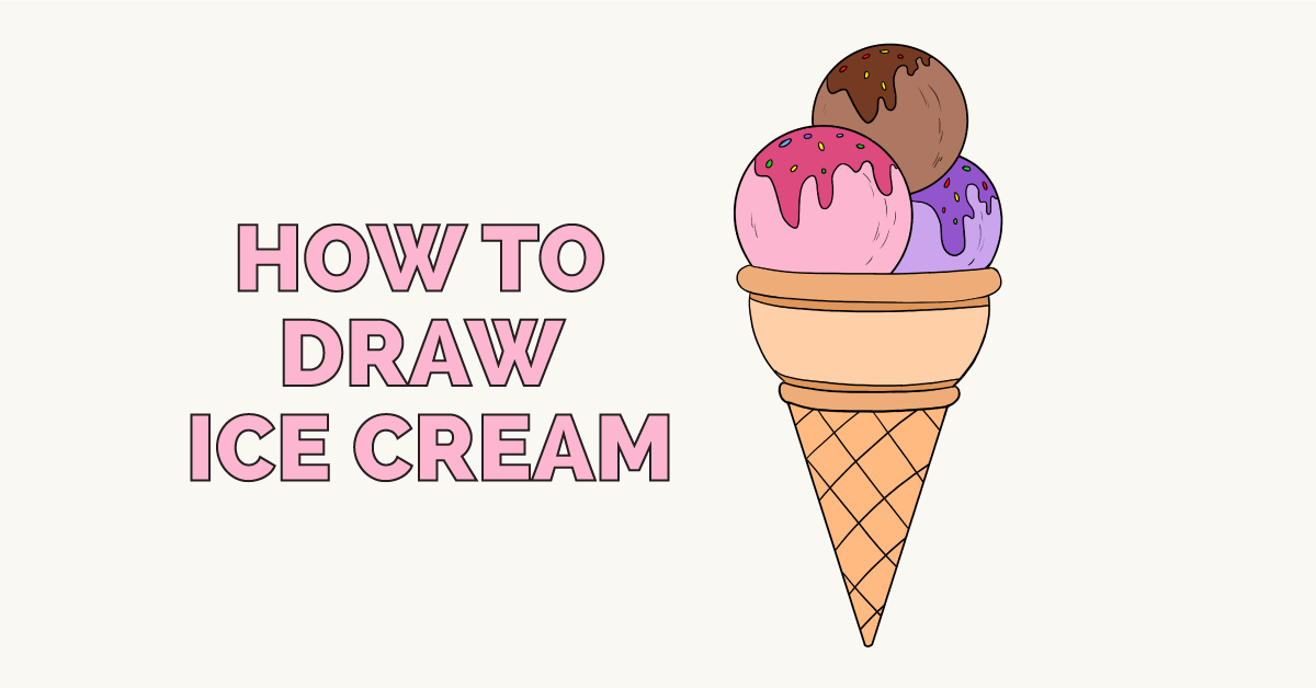 How To Draw Ice Cream Really Easy Drawing Tutorial