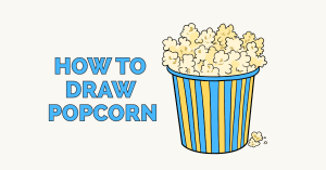 How to Draw Popcorn: Featured Image