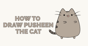 How to Draw Pusheen the Cat: Featured Image