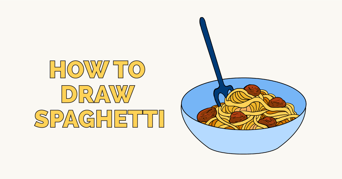 How To Draw Spaghetti Really Easy Drawing Tutorial