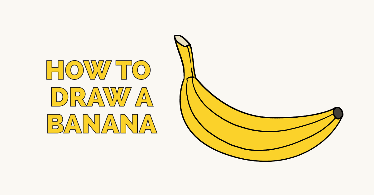How To Draw A Banana Featured Image