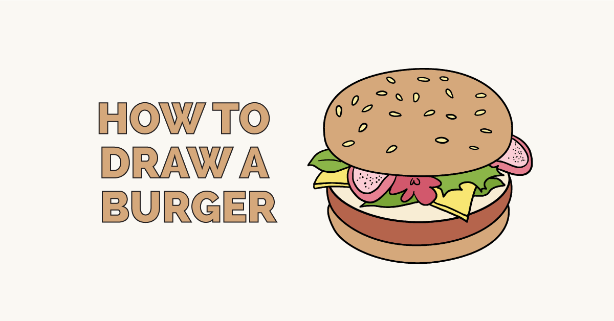 How to Draw a Burger: Featured Image