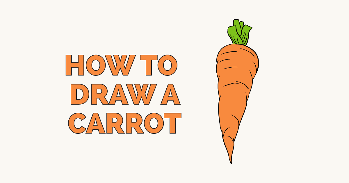 How to Draw a Carrot: Featured Image