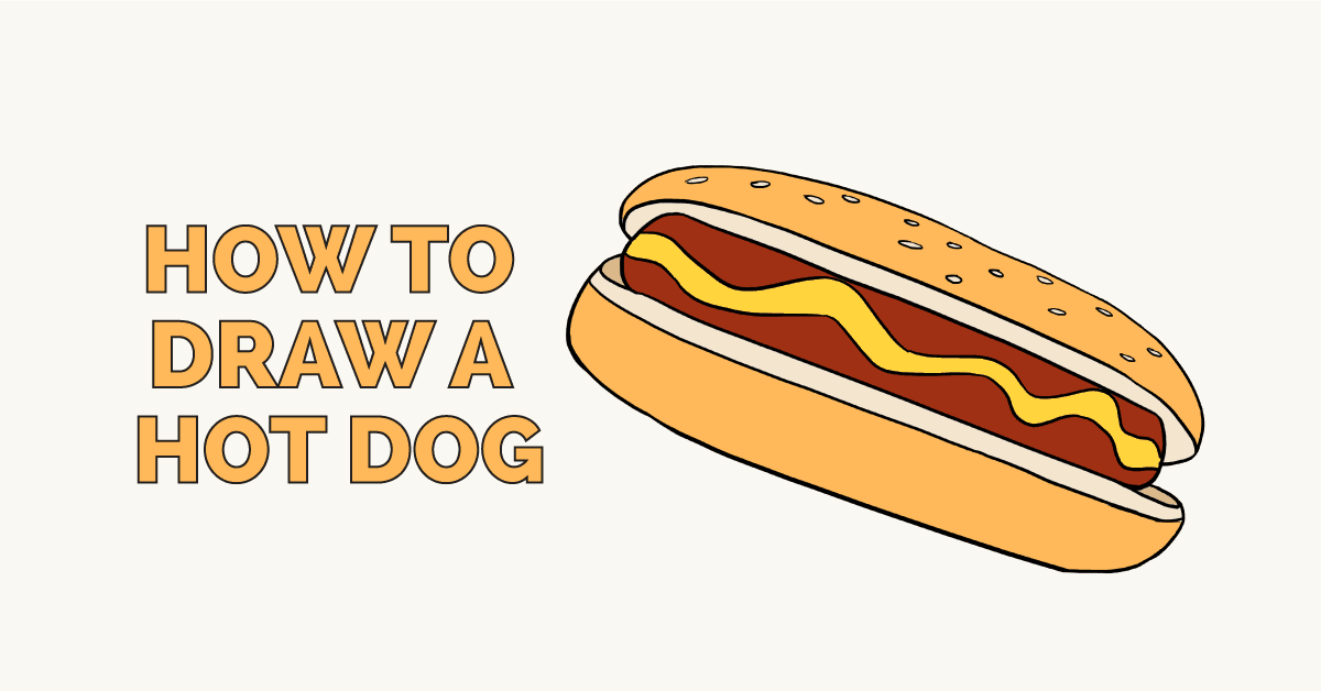 How to Draw a Hot Dog: Featured Image