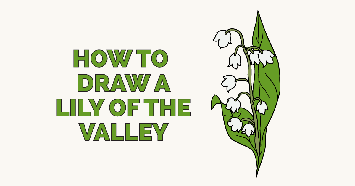 How to Draw a Lily of the Valley: Featured Image