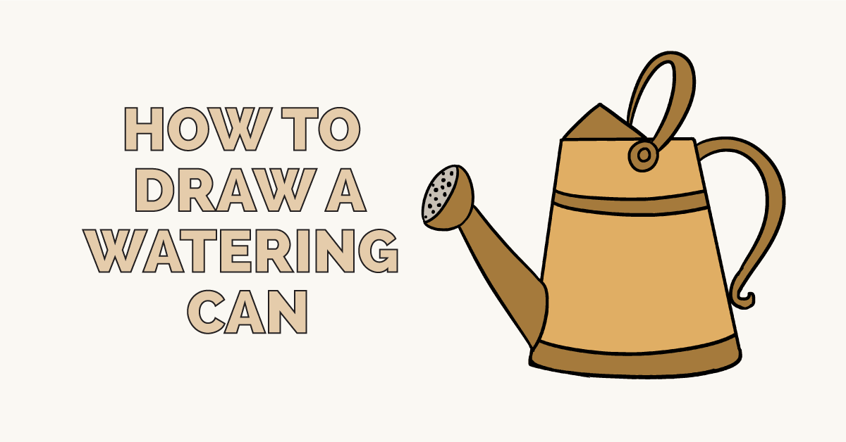 How to Draw a Watering Can: Featured Image