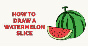 How to Draw a Watermelon Slice: Featured Image