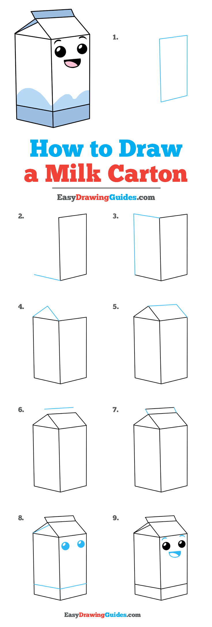 How to Draw Milk Carton
