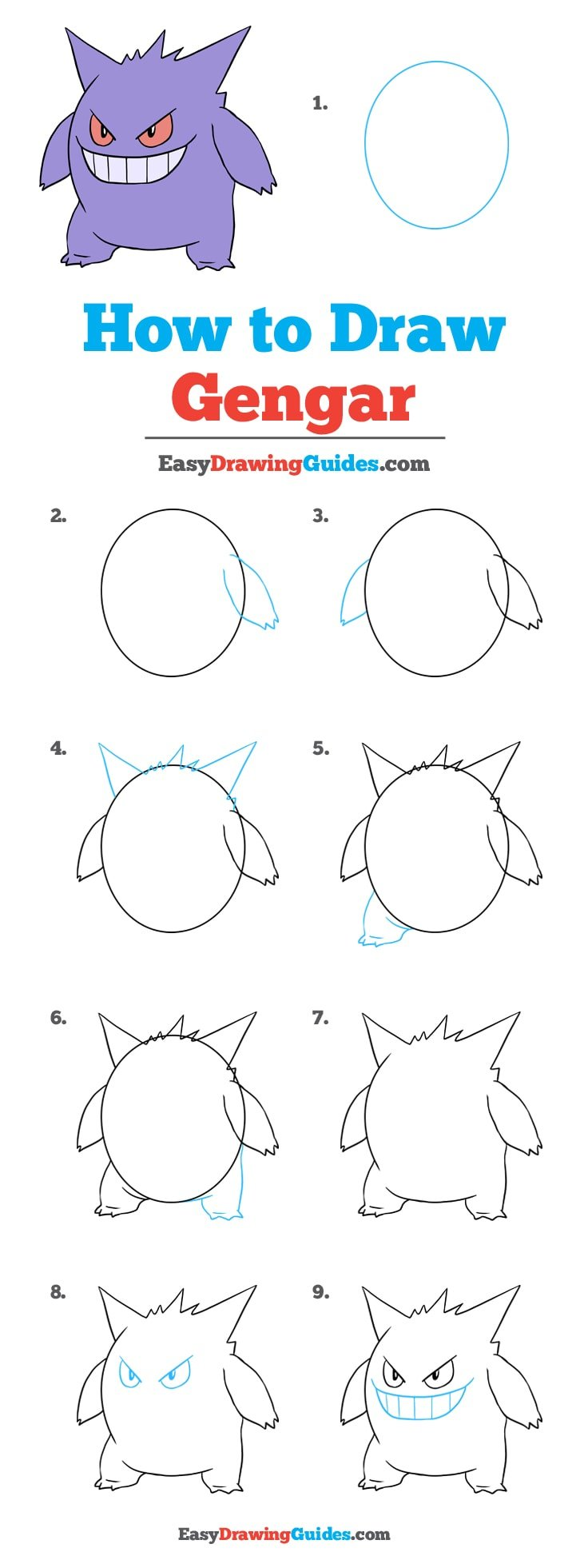 How to Draw Gengar
