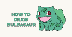 How to Draw Bulbasaur: Featured Image