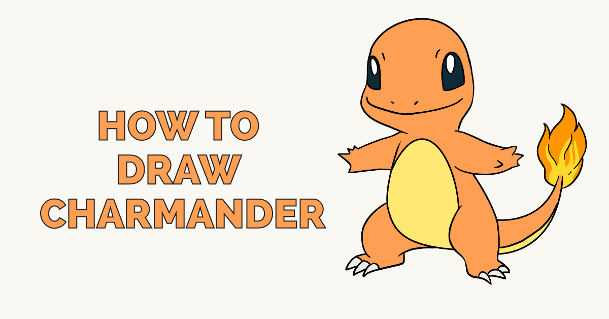 How To Draw Charmander From Pokemon Really Easy Drawing Tutorial