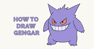 How to Draw Gengar: Featured Image